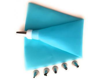 5 Douilles Patisserie Plastique Poche en Silicone Lavable de 40 cm