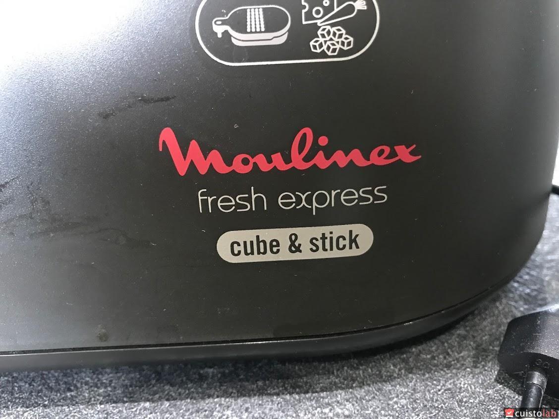 Moulinex DJ905810 D/écoupe L/égumes /Électrique Fresh Express Cube /& Stick R/âper Fin /Épais Trancher D/écouper Cubes Batonnets Mandoline L/égumes Fruits 280W Noir
